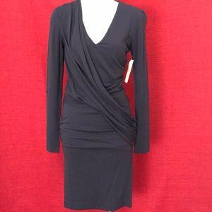 Nicole Miller Stretch Dress Navy Sz P